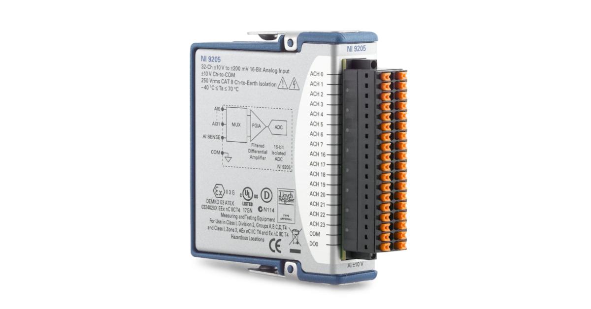NI 9205 cDAQ Voltage Input Module